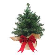 Mini Artificial Christmas Tree with Woven Bag