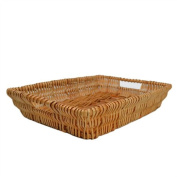 RURALITY Rectangular Wicker Storage Basket for Home,Shops or Markets