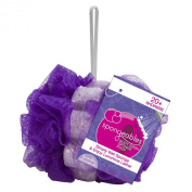Spongeables 20 Plus Body Wash Infused Sponge with Dual Poof Purple Lavender Chamomile Scent
