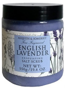Asquith & Somerset English Lavender Exfoliating Salt Scrub 570ml From England