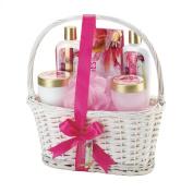Bath & Body Spa Gift Set Complete 7 Piece with Lotion, Scrub & Cream