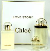 Chloe Love Story Eau de Parfum Spray Gift Set 2.5  Eau De Parfum  3.4 BL+MINI