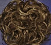KATIE 18cm Pony Fastener Hair Scrunchie 38 Ash Brown with 10% Grey
