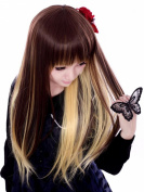 PRETTYSHOP Fashion Lady Wig Long Hair Cosplay straight BROWN blonde Heat-Resistant WL111