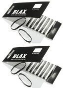 Blax Black Snag-Free Hair Elastics - 4mm 2 Pack...