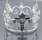 Mini Tiara Crown for Newborn Baby Photo Prop Crystal Flower Girl Crown Silver Saint 4064