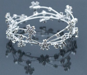Mini Tiara Crown for Newborn Baby Photo Prop Crystal Silver Wire Star 5011