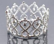 Mini Tiara Crown for Newborn Baby Photo Prop Crystal Infinity Drop 5012