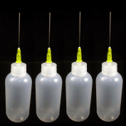 4 Needle Tip Plastic Bottle Dispenser Oil Solvent Ink Applicator Dropper 20ml
