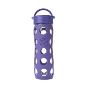 Lifefactory 470ml Glass Beverage Bottle Royal Purple