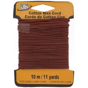 Red Brown Waxed Cotton Cord -1.5mm, 10 metres