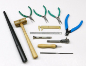 WIRE WRAPPING TOOL KIT jewellery MAKING WIRE BEAD WORK PLIERS & HAND TOOLS SET 12