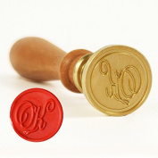 UNIQOOO Initial K Wax Sealing Stamp Arts Crafts Wedding Invitation Letter Gift
