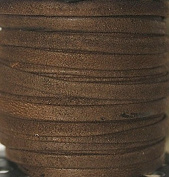 Genuine Suede Leather - 4 Mm Wide X 1 Mm Thick Fold Over (Folded & Pasted) - Various Colours - Packing of 1 Yard, 5 Yards, 10 Yards in Hank and 25 Yards in Spool (1 Yard, Medium Brown