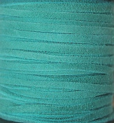 2.5mm Width - Very Thin Suede Lace (0.5-0.7 Thickness) - Genuine Suede Leather - 25 Yards Per Spool - Available in Many Colours (Turquoise