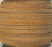 2.5mm Width - Very Thin Suede Lace (0.5-0.7 Thickness) - Genuine Suede Leather - 25 Yards Per Spool - Available in Many Colours (Marigold