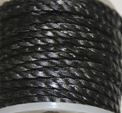 Genuine Leather * High Quality * 2mm-flat - 2 Strands - Twisted - 3 Colours - Natural, Black, Red Brown - Packing of 1 Yard, 5 Yards, 10 Yards in Hank & 25 Yards in Spool (1 Yard, Black