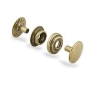 Line 24 Snaps Antique Brass 10/pk Item #1263-04