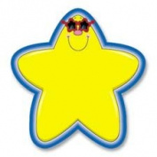 "Star Cutouts, 13cm - 0.6cm ""x 5-0.6cm "", 36 Pieces, Yellow/Blue, Sold as 1 Each"