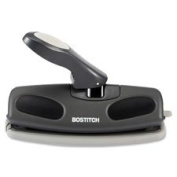 "Adjustable 7 Hole Punch, 0.7cm "", 25 Sht Cap, Black, Sold as 1 Each"