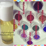 12 Pigment Powder Sample Colourants 1g & 30ml Pomace Olive Oil Gramme Cold Hot Process Soap Making