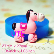 037LBD Pink Horse Flexible Silicone Mould Dollhouse Polymer Clay Charms Mini Resin Mould