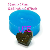 024LBK Love Heart Shape Chocolate Silicone Mould 17mm - Bakeware Chocolate Candy Polymer Clay Moulds, Fimo Mould Jewellery Mould