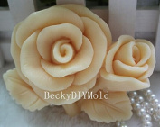 Creativemoldstore 1pcs Two Rose (zx00336) Craft Art Silicone Soap Mould Craft Moulds DIY Handmade Soap Mould