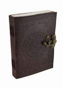 Mandala and Knotwork Embossed Leather Journal w/Swing Clasp