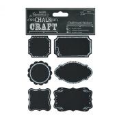 Chalk Craft Chalkboard Stickers 24/Pkg-Frames
