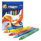 Eco-friendly Crayons, Children's,Tuck Box, 24 Ct., Assorted, Sold as 1 Box