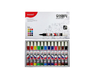 Monami Office Supplies Artist's Markers Permanent Pen Oil-based Pen 12 Colour Tip Thickness 2mm