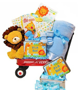 New Arrival in the Jungle | Baby Boy Gift Waggon