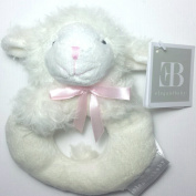 Elegant Baby 15cm Plush Rattle ~ Lamb