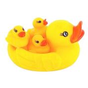 Ookamiwolf Baby Bathing Developmental Toys Water Floating Squeaky Ducks,Yellow