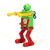 Classic Clockwork Wind Up Toys Walking Robot Dancing robot doll toy clockwork robot.