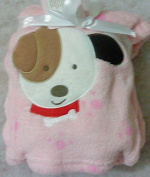 Snugly Baby Embroidered Girl Blanket Dog Paws