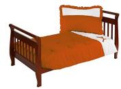 Baby Doll Regal Toddler Bedding Set, Orange