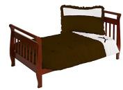Baby Doll Regal Toddler Bedding Set, Chocolate