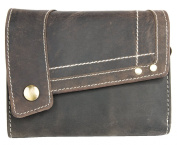 Dark Brown Natural Strong Quality Genuine Leather Wallet Pedro