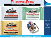 Fisherman's Friend Herbal Lozenges ( Pack of 3 Flavours Original + Aniseed + Mint with Mini Tin Box) Effective for Extra Strong Cough Suppressant Lozenges and Tin Box to Keep Lozenge and Collectibles Set
