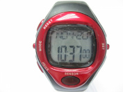 Heart Rate Monitor Watch - Red Colour - for Men & Women - Essential for Effective Body Workout and Fitness - Satisfaction Guaranteed