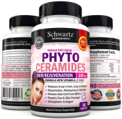 Phytoceramides 350 mg Plant Derived - Powerful Anti-Ageing Skin Care with Vitamin A, C, D & E. PHYB3G1F at Checkout » Gluten Free - Formulated by Doctors - 30 Phytoceramides Capsules - Clinically Proven to ? Boost Collag ..