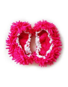 Deep Pink House Floor Cleaning Mop Slippers Shoes