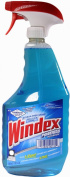 Windex Powerized Glass Cleaner with Ammonia-D, 950ml Spray Bottle
