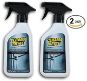 (2 Pack) Cerama Bryte Stainless Steel Cleaning Polish Trigger Spray Cleaner, 470ml Each