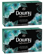 Ultra Downy Infusions Botanical Mist Fabric Softener Sheets 105 Ct