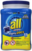 All Mighty Pacs Laundry Detergent, Stainlifter, Tub, 72 Count