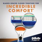 Fusion Manual Razor Blade Refills 4ct + Fusion HydraGel Shave Gel 210ml, 1 kit