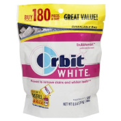 Orbit White Gum, Bubblemint 180 ea